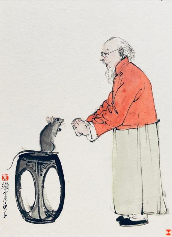 一组十分有趣的鼠年中国画,看完心情突然就好了!